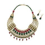 Nagi Layered Ethnic Statement Necklace Set