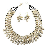 Mala Three Row Cowrie Shell Necklace