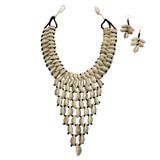 Vina Cowrie Shell Bib Necklace