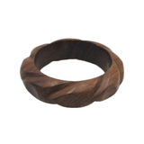 Rola Carved Wooden Bangle