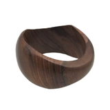Aaliyah Classic Wavy Wood Bangle