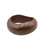 Fayola Wave Chunky Wooden Bangle