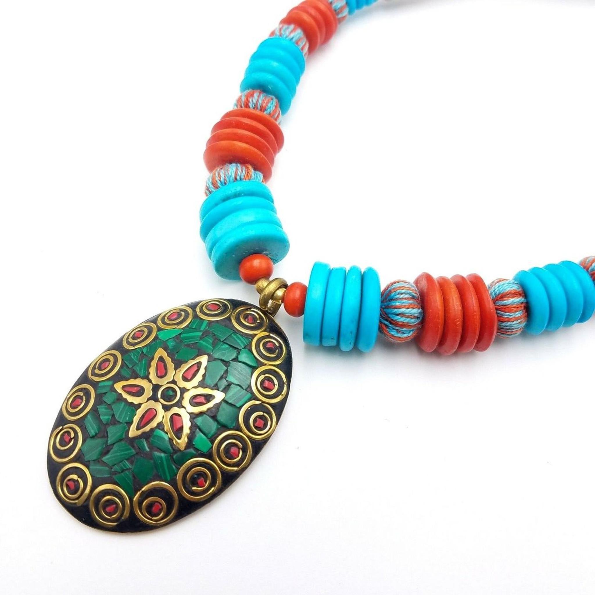 Tina Mosaic Pendant Necklace