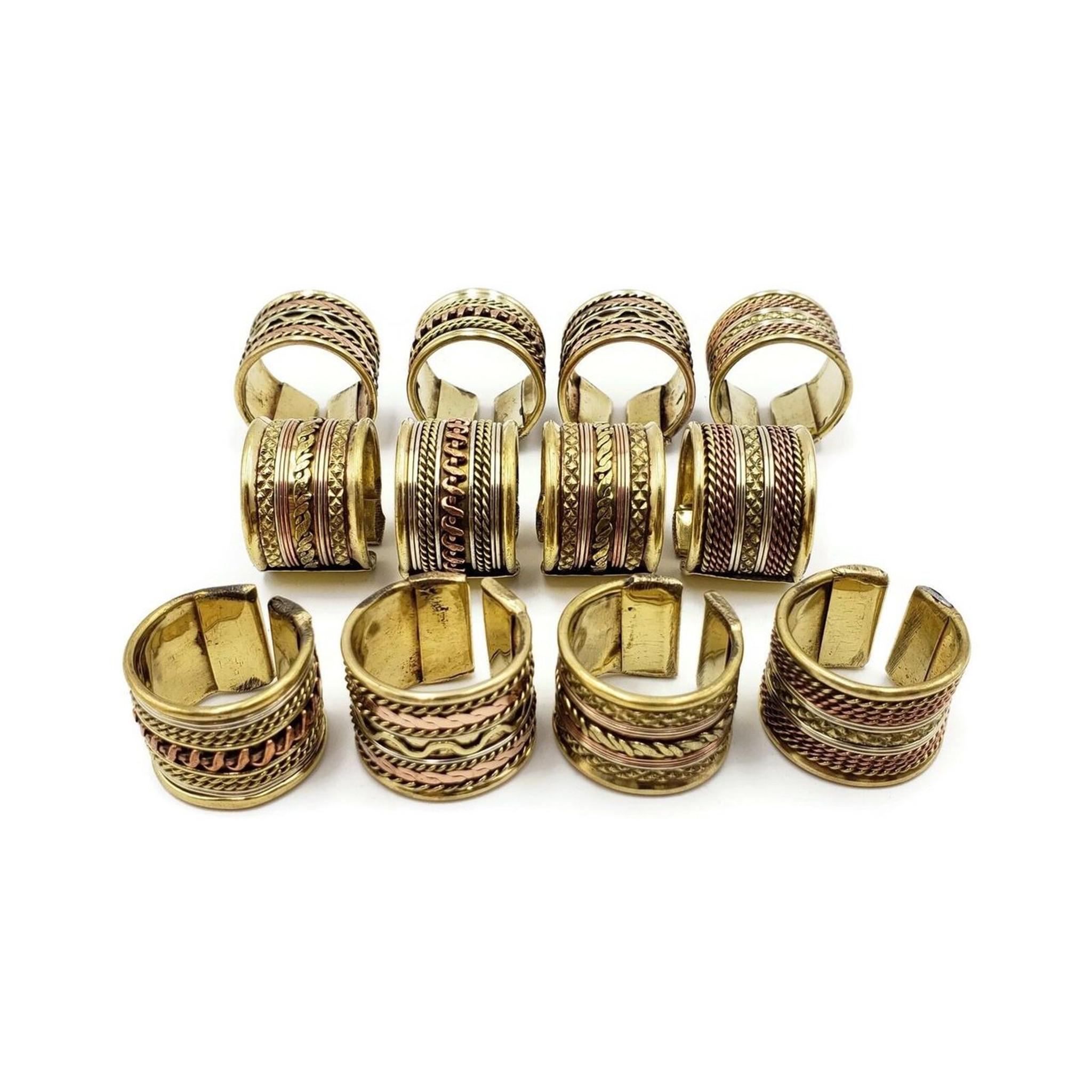 Boho Brass Rings