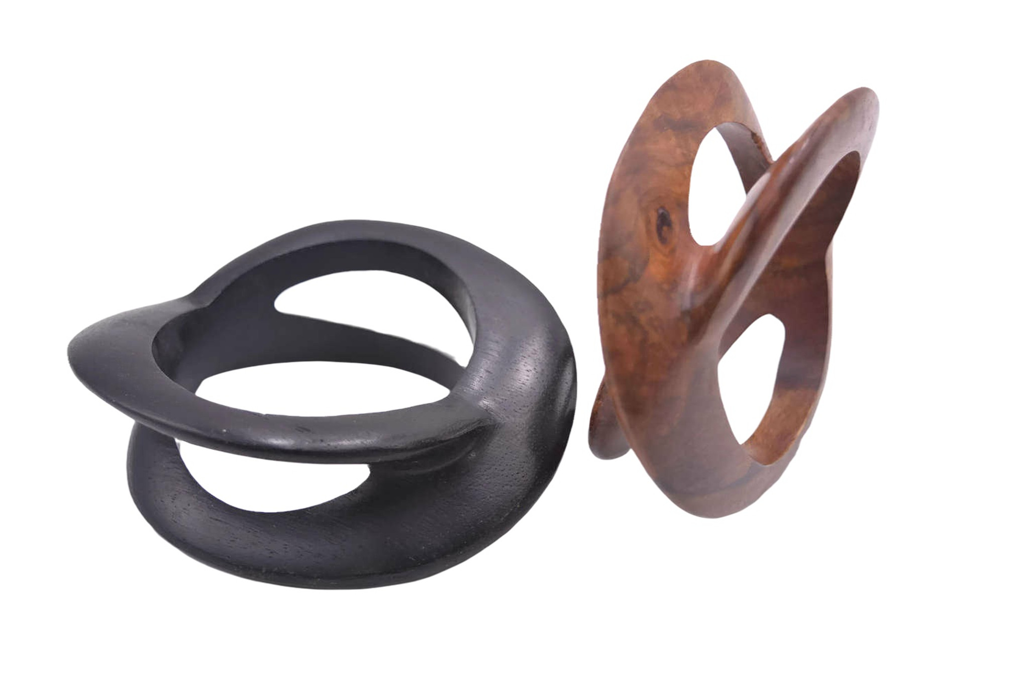 Zeniah Infinity Carved Wooden Bangle