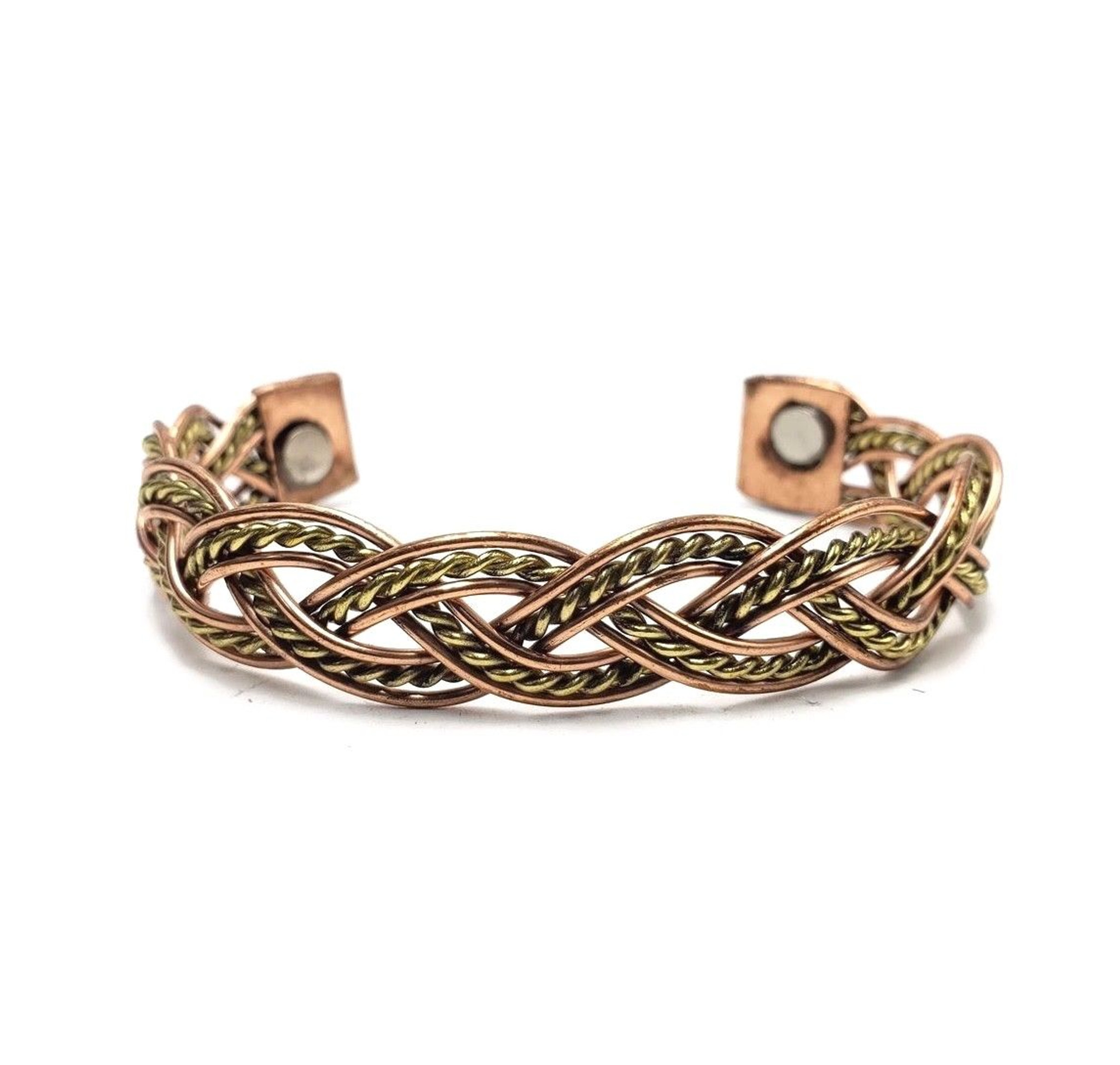 Riya  Woven Three Tone Copper Cuff