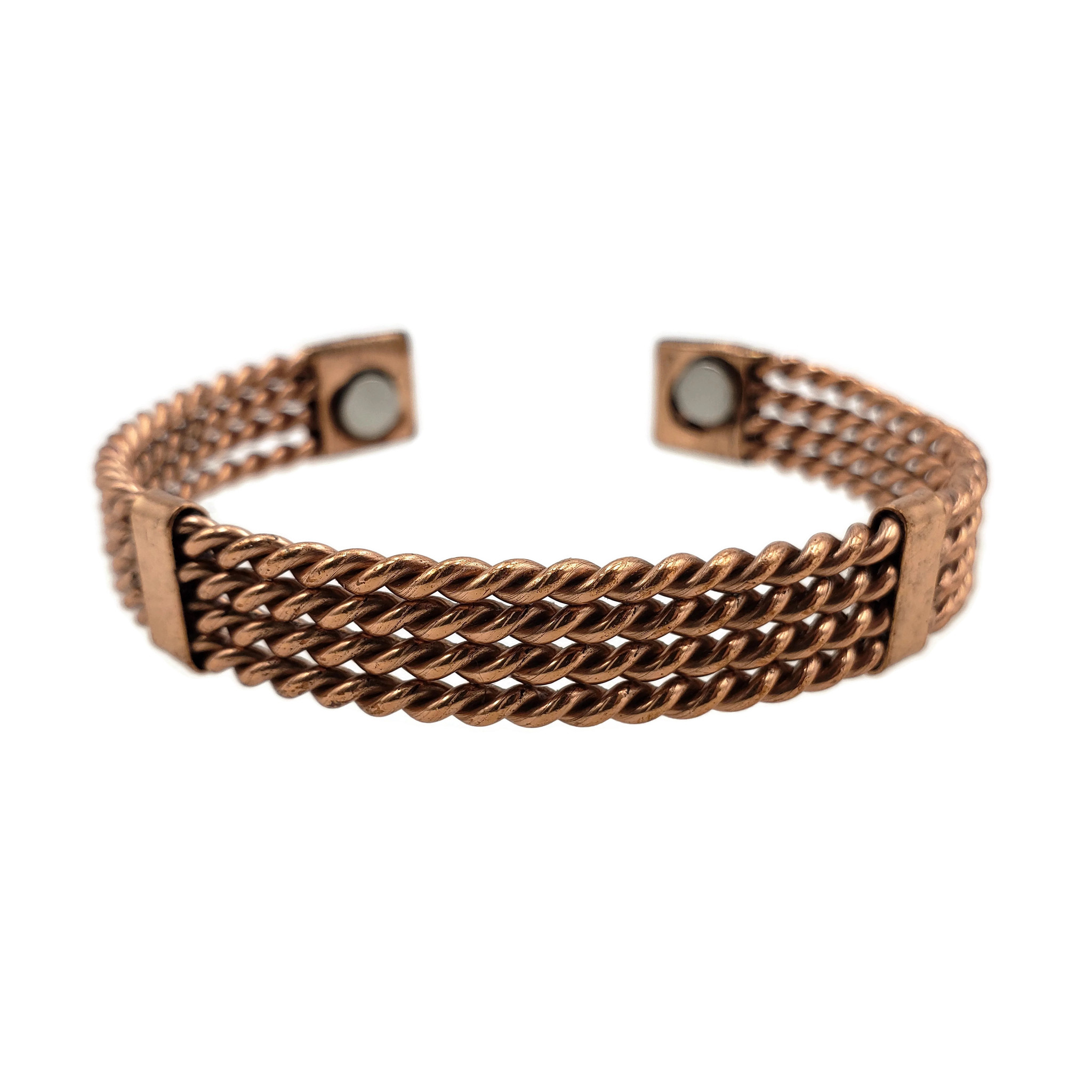 4 Layer Twisted Copper Cuff