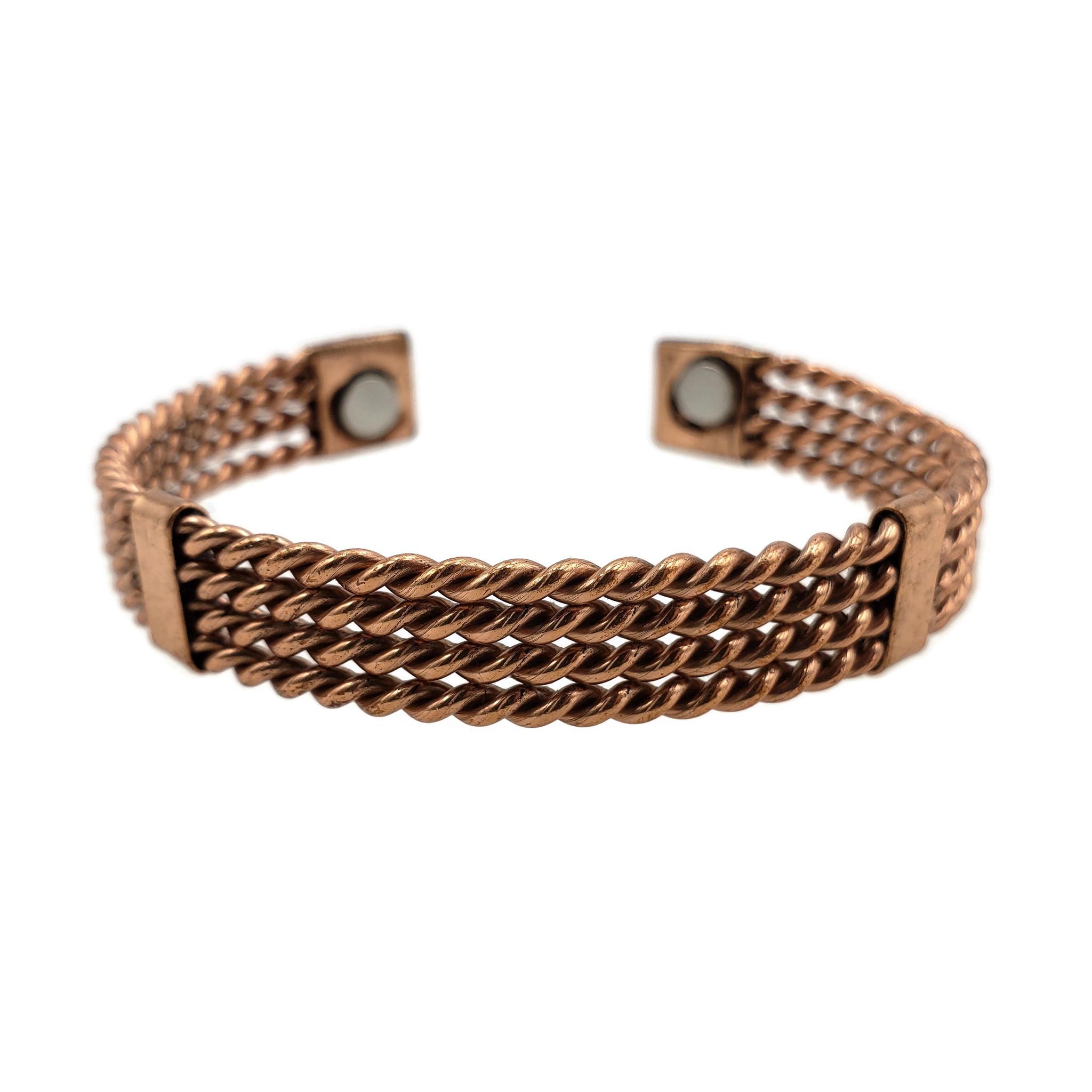 Ameena 4 Layer Twisted Copper Cuff