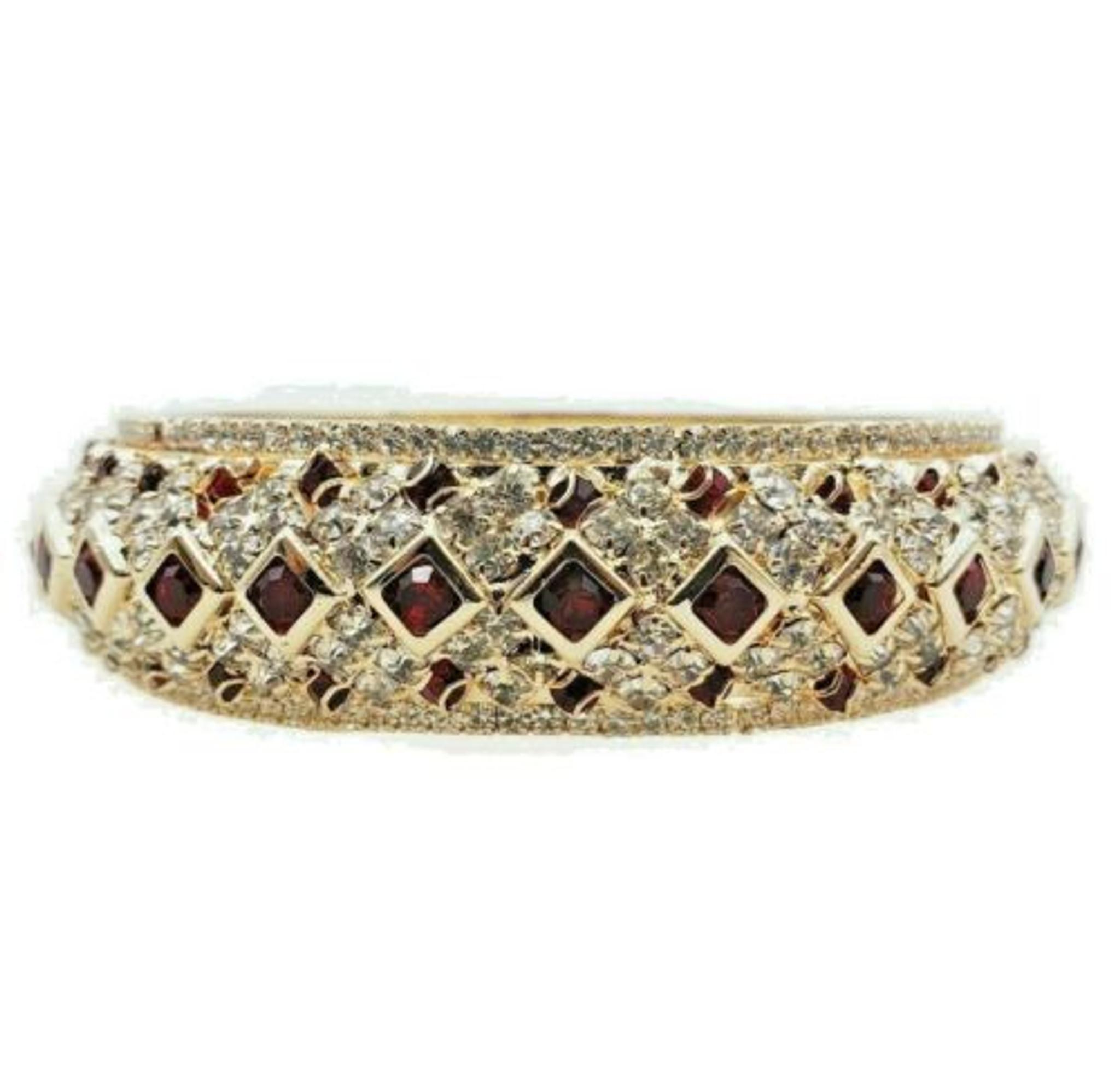 Bollywood Bangle Chunky Wedding Jewelry Gold Plated Rhinestone | NO8 - Size 210