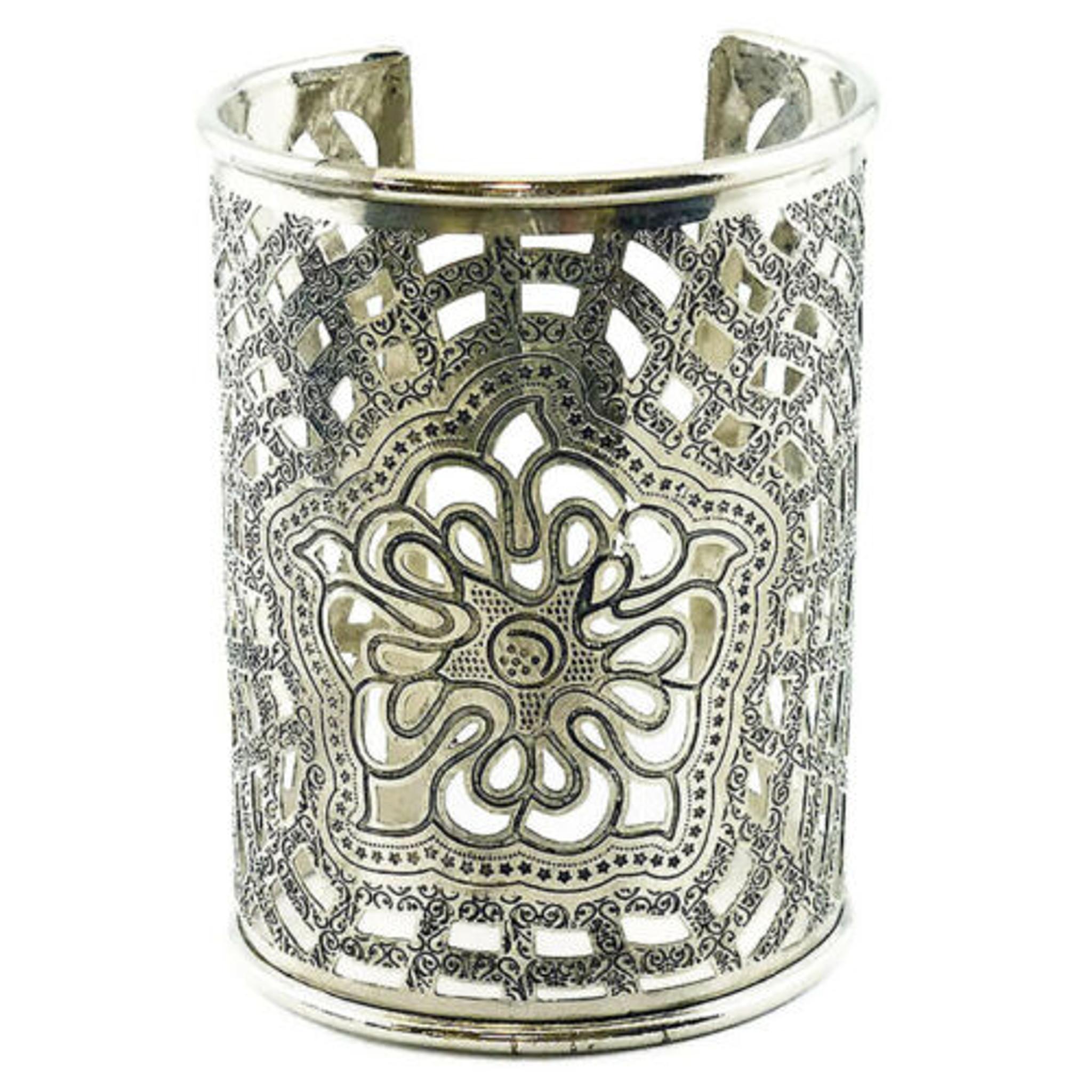 Ornate Brass Filigree Cuff