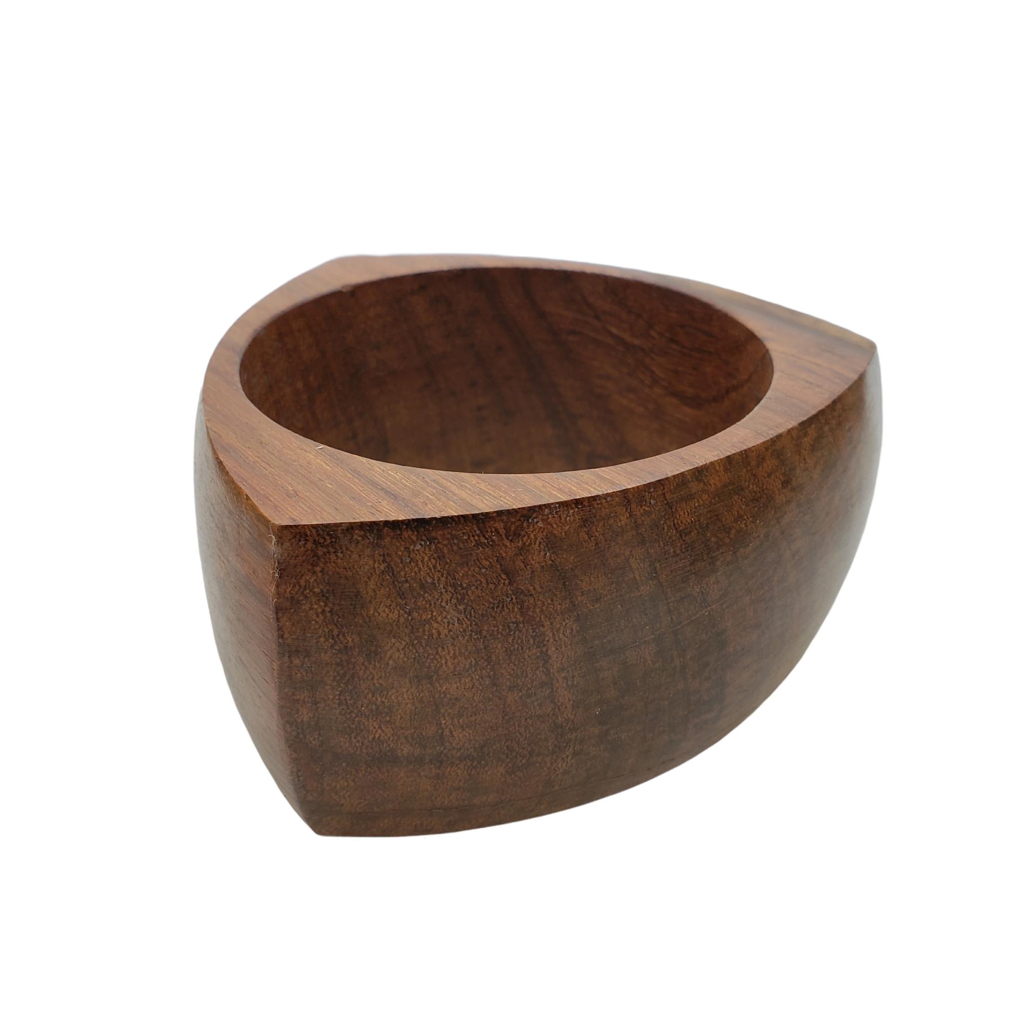 Tria Reuleaux Triangle Chunky Wood Bangle