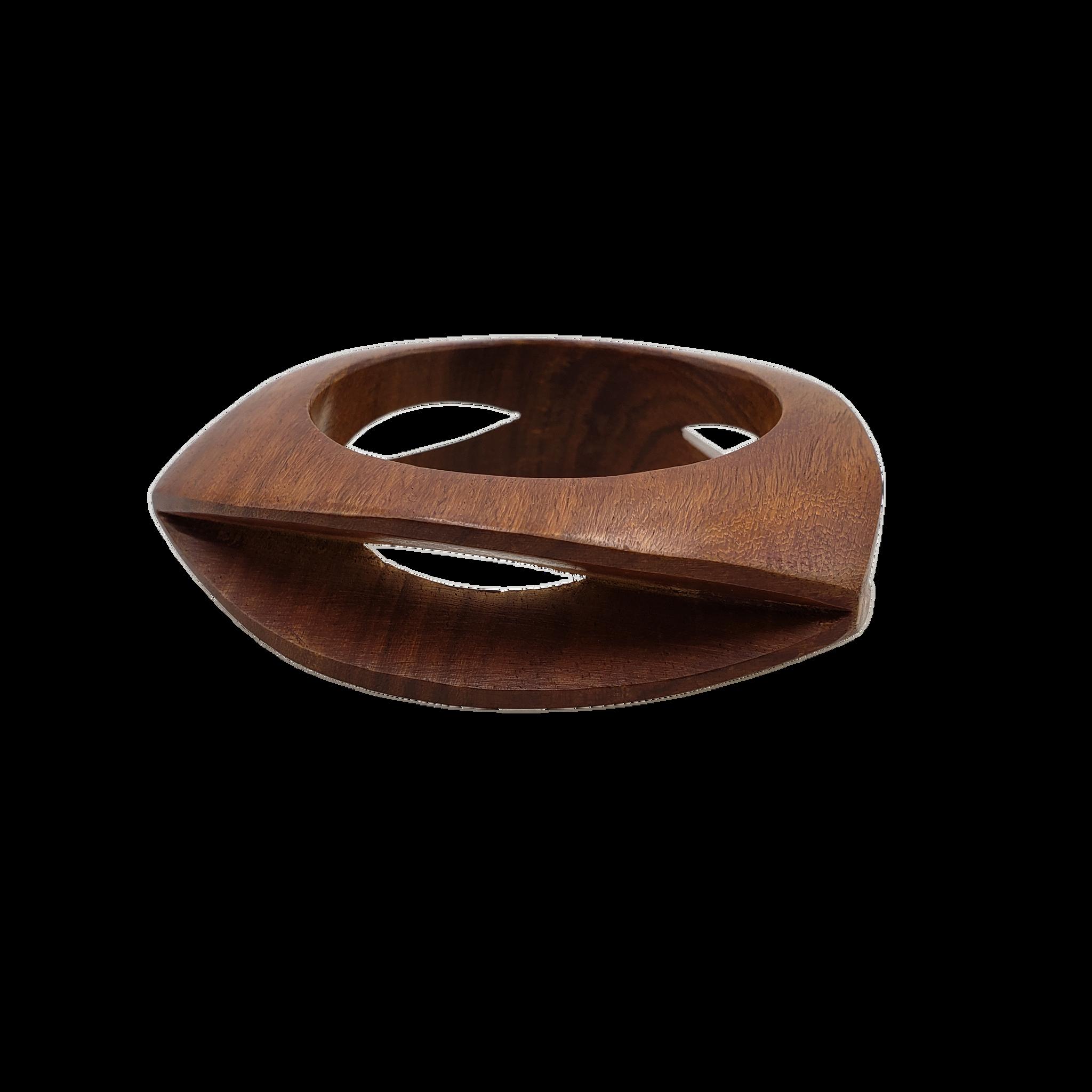 Nayu Carved Wood Bangle