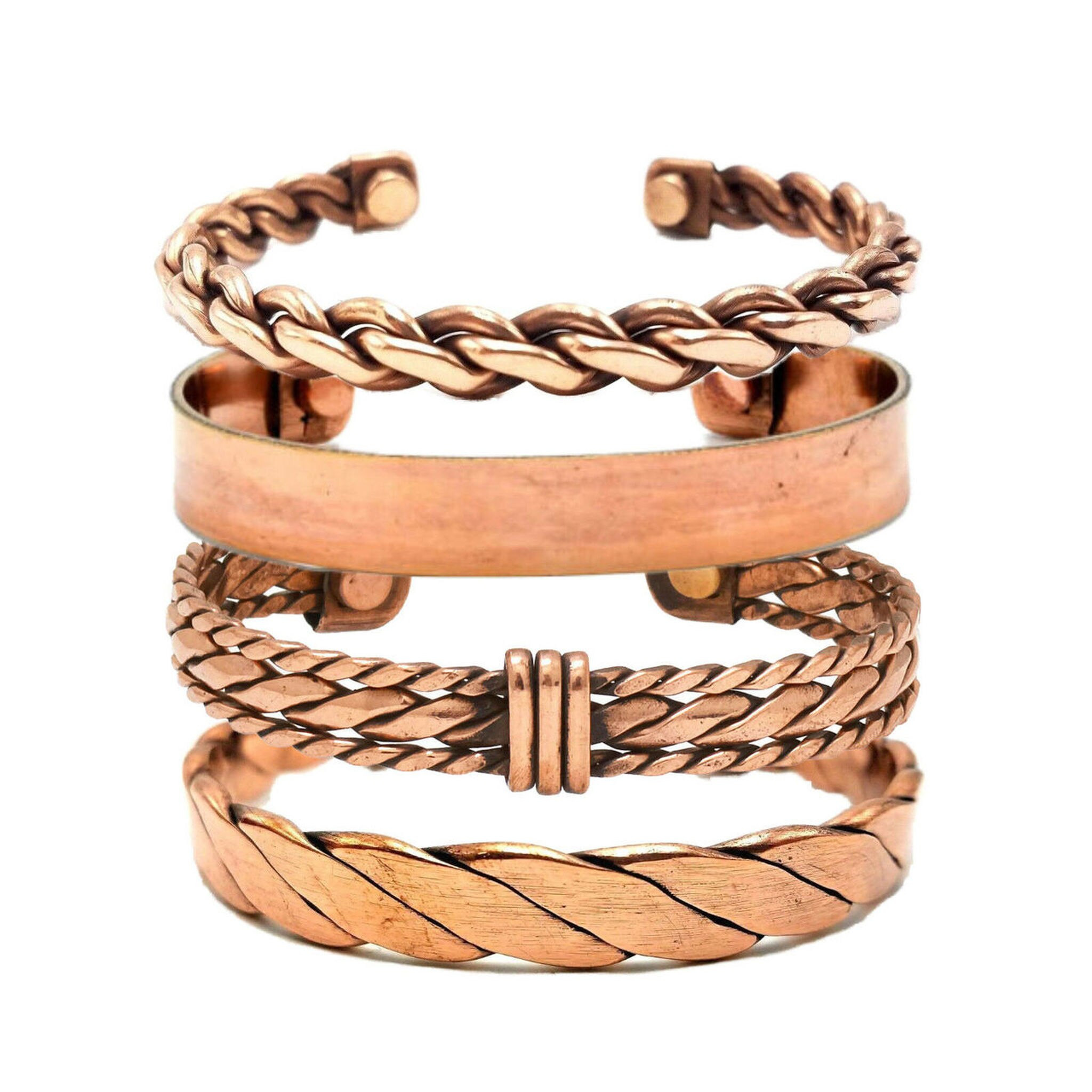 Pure Copper Magnetic Cuff Bracelet 12 Assorted