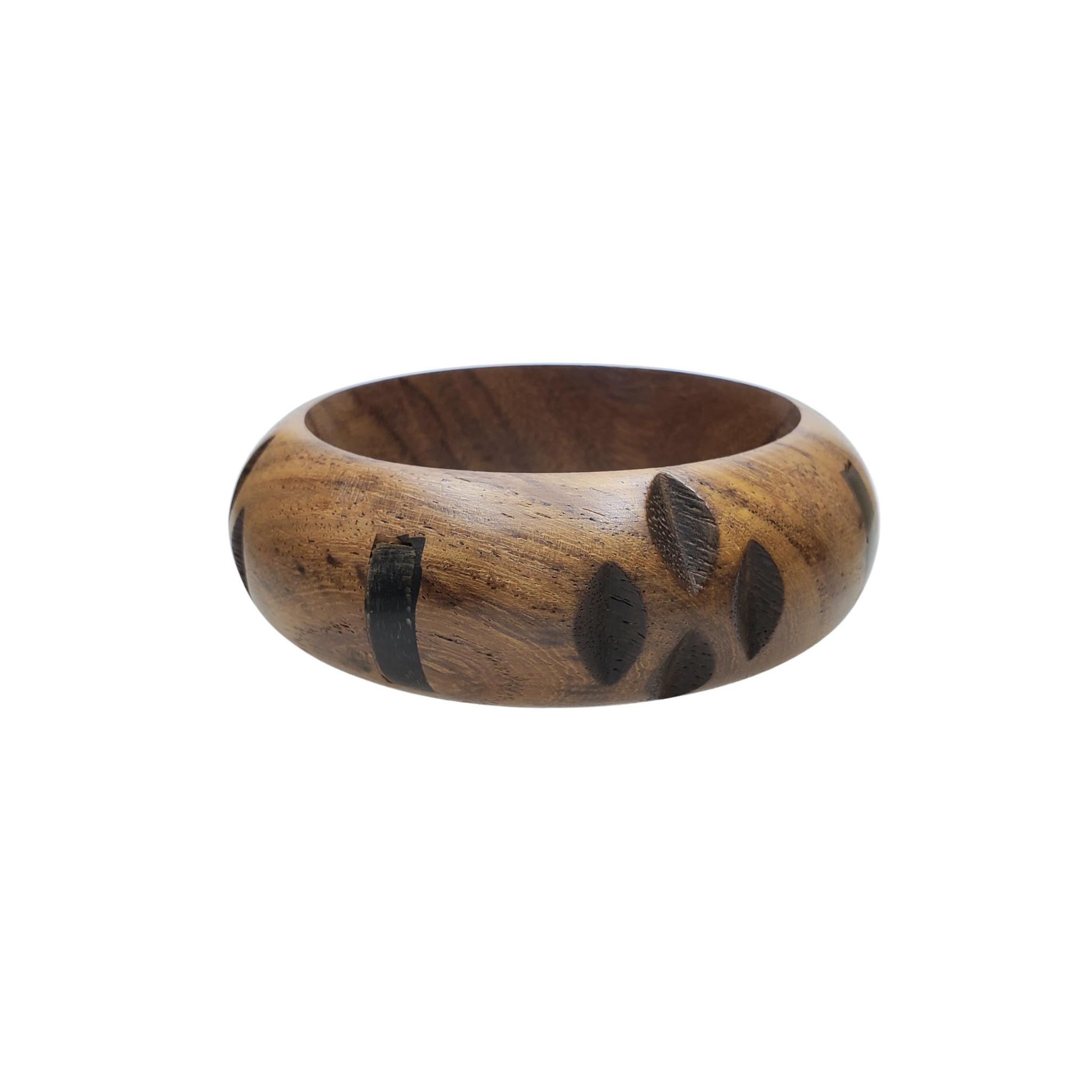 Pola Wood and Horn Bangle