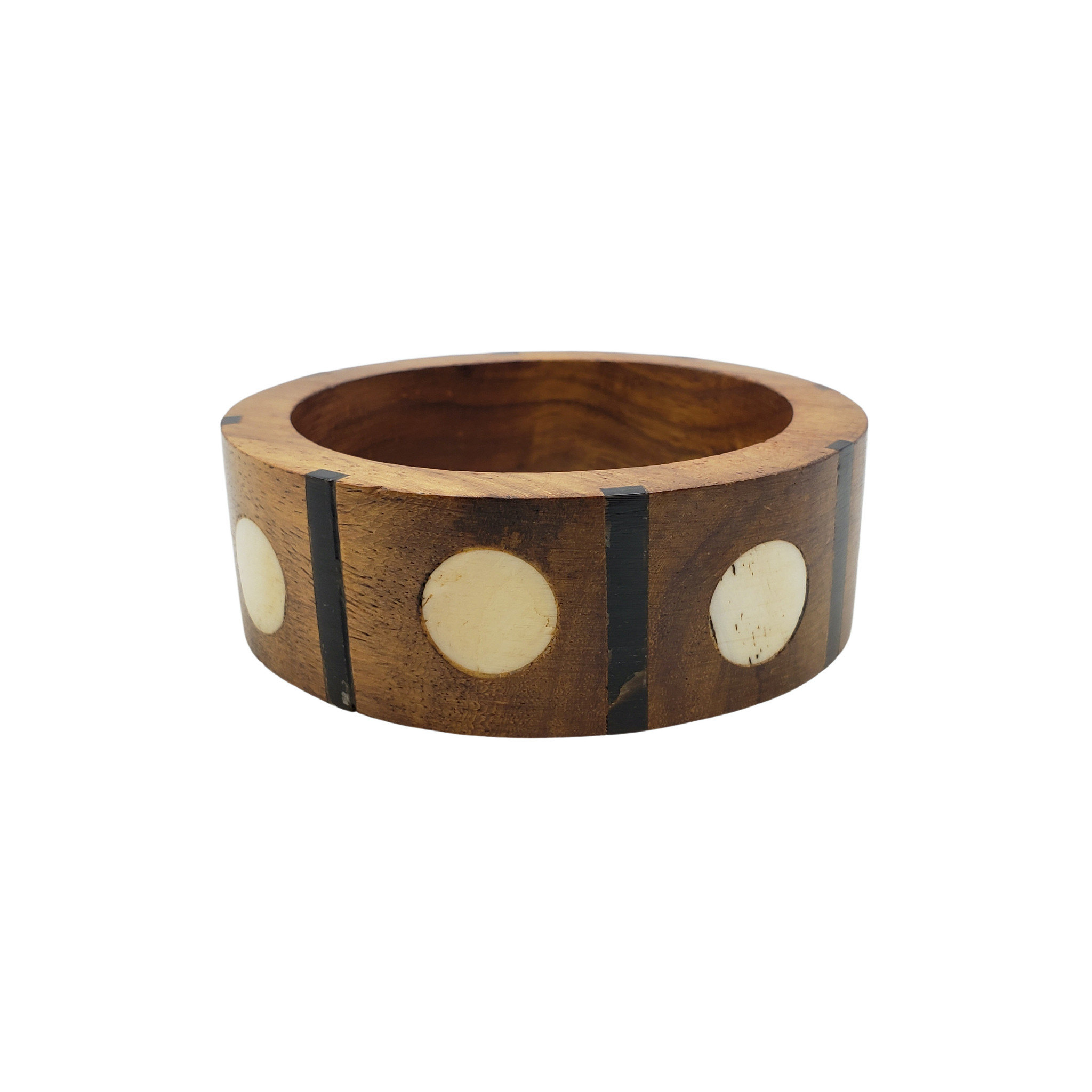 Lira Wood and Bone Bangle