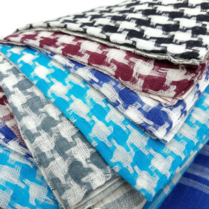 Checkered Arafat Keffiyeh Cotton Scarf
