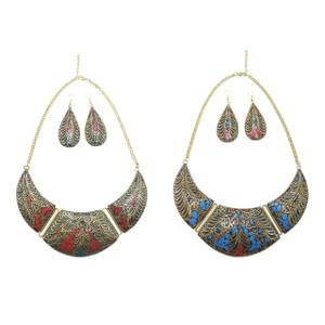 Bajalia Jewelry Tibetan Solid Brass Bib Necklace Jewelry Lot