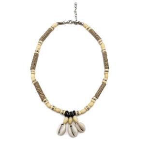 Faye Cowrie and Puka Shell Choker Necklace