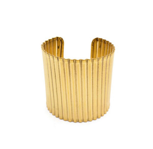 Tapri Gold Tone Brass Metal Cuff Bracelet