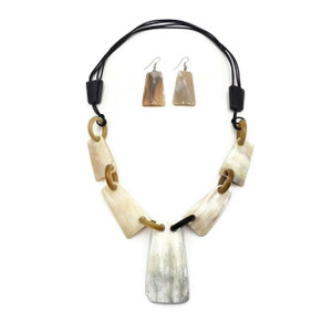 Buffalo Horn Necklace Genuine Horn Shells Natural Jewelry Earring