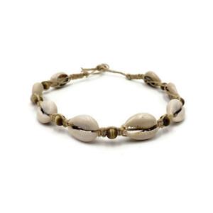 Moana Cowrie Shell Choker with Cat Eye Beads