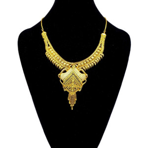 Fashion Indian 22K Gold Plated Bollywood Necklace Wedding Jewelry Earrings 1421E