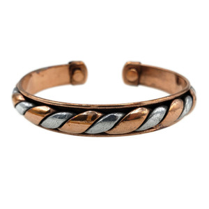 Silver and Copper Cuff