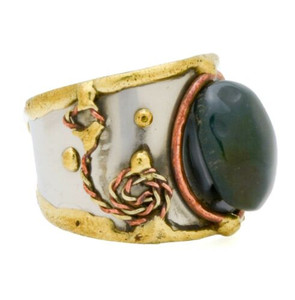 Wire Wrapping Brass and Agate Ring