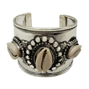 Frida Filigree Cowrie Shell Cuff Bracelet