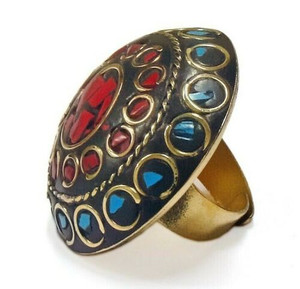 Zendaya Terracotta and Mosaic Sultani Ring - Red