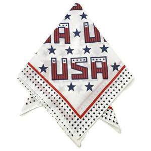 USA Printed Design American Flag/Bandana - 100% Cotton