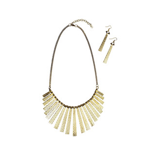 Fringed Tribal Necklace - Gold