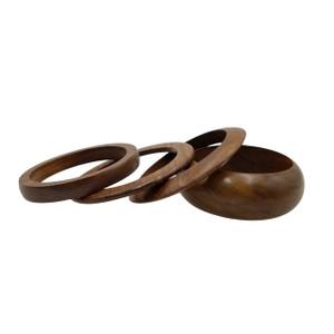 Nia Wooden Bangle Set Of 4