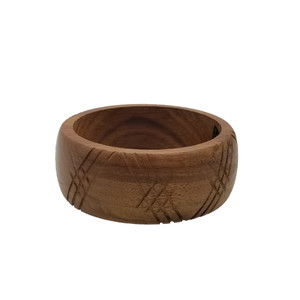 Sunio Carved Wooden Bangle