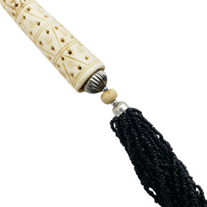 Arti Seed Beads and Carved Bone Pendant Necklace Set