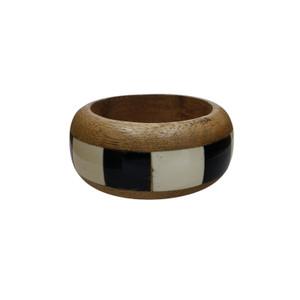 Orio Wood and Bone Bangle