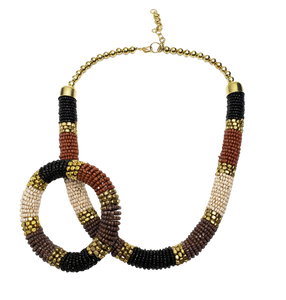 Musa Seed Bead Necklace and Bracelet Set