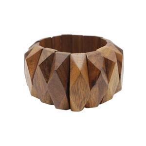 Latrice Geometric Elastic Wood Bracelet