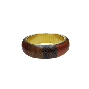 Cete Wood and Brass Bangle