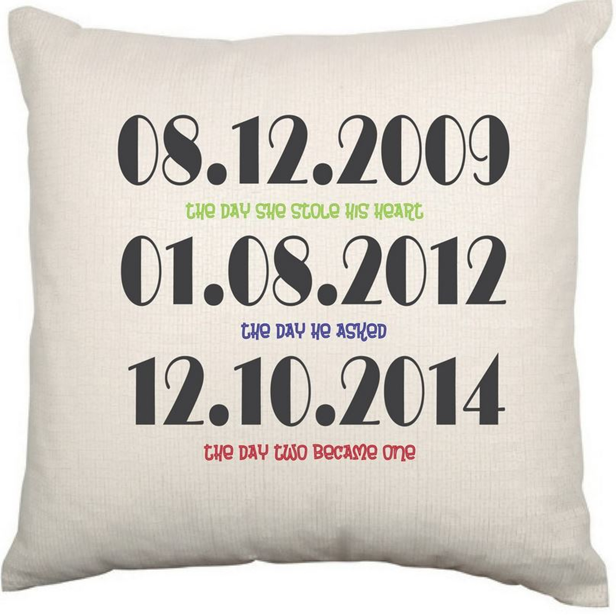 Personalised Couples Cushion Cover (Dates) c2af807ccf01