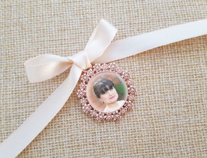 Rose Gold Charm - photo size 2cm