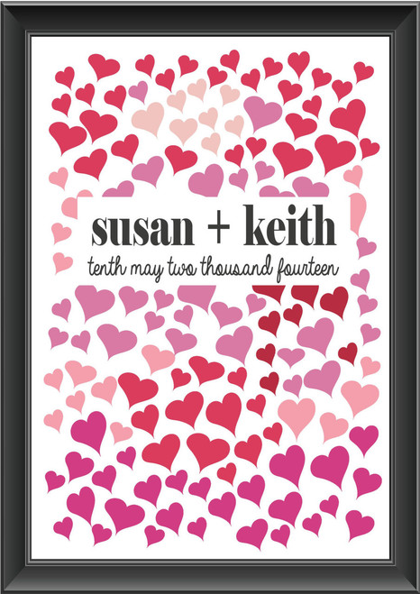 Personalised Heart Guestbook