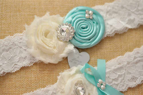 Personalised Garter set - Melanie design