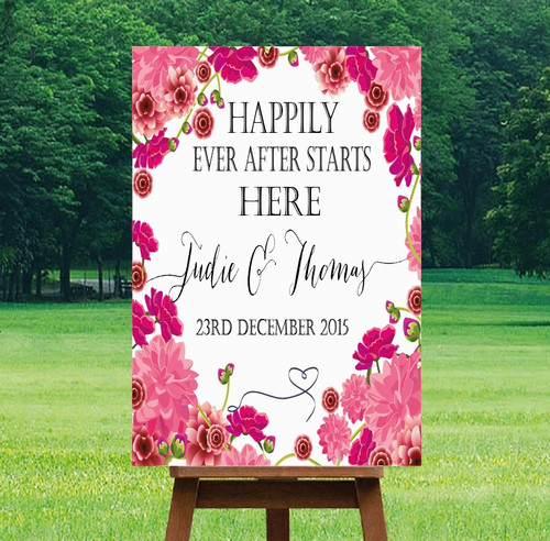 "Printable Wedding Sign - ""Mia"" Design"