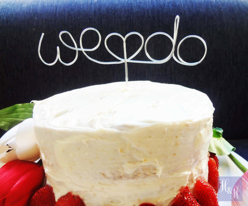 """Personalised """"We Do"""" Cake Topper - Sophie Design"""