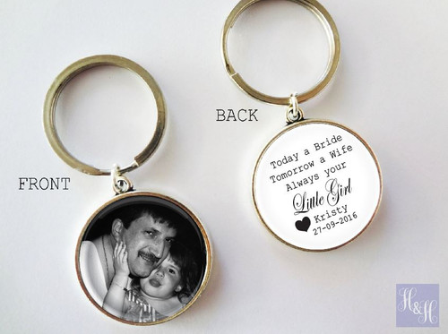 Keyring - Double sided (Father/Mother of the Bride)