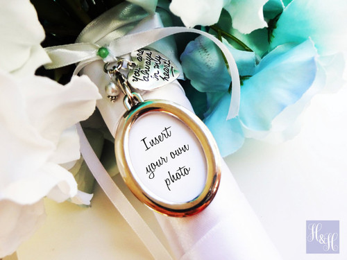 Bouquet Charm - DIY Oval (Silver) - Majory Design
