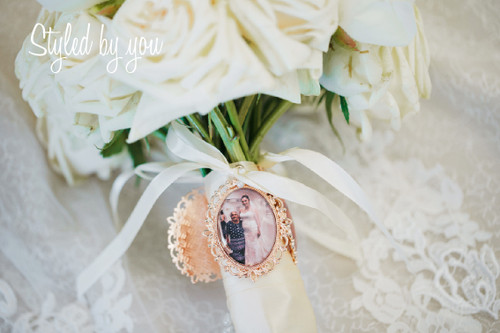 Bouquet Charm (Oval) in Rose Gold - Emmala Design