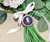 DIY round rhinestone charm with inserted photo