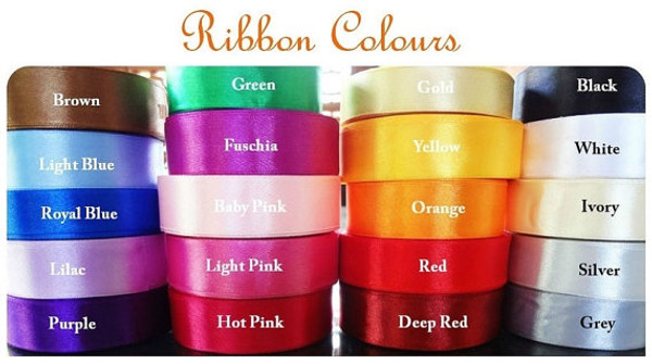 Ribbon colour choices (standard is Baby Blue as pictured)